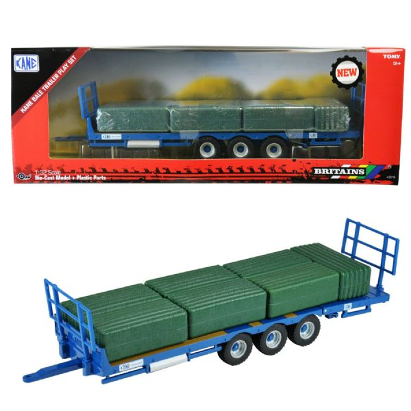Tomy Britains Farm Kane Bale Trailer Play Set Toy 1:32 Scale